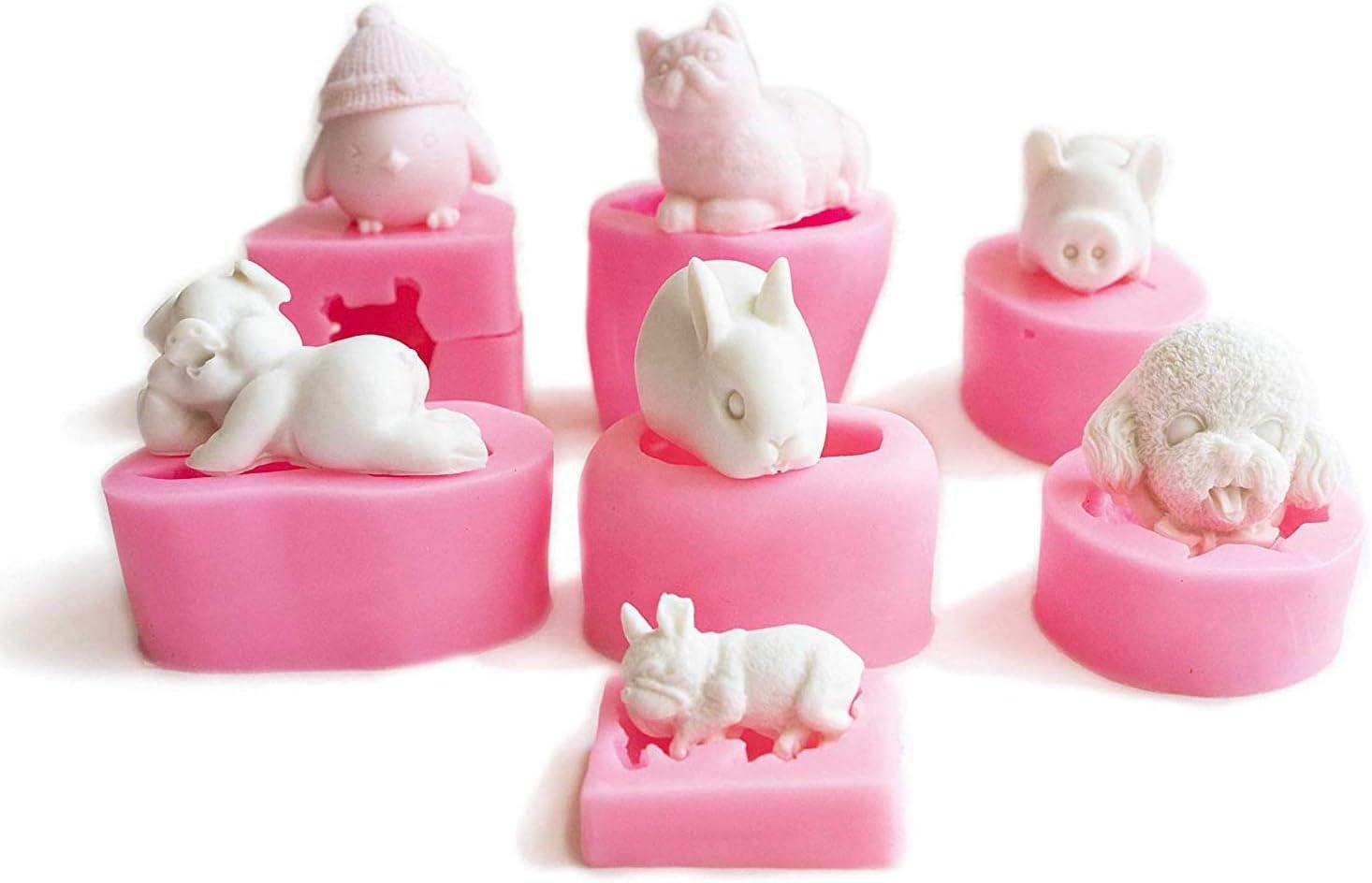 3DSchöne Katze Seifenform Silikon Kerzenform Fondant Schokoladenkuchen mooY/_yk