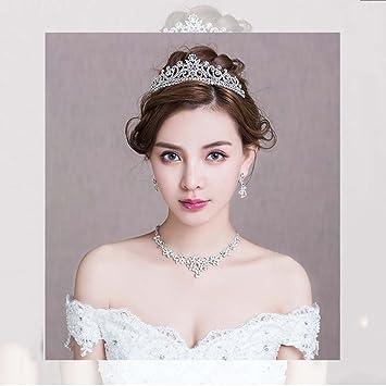 LINLIN Tiara Nupcial De Tres Piezas Corona Vestido De Novia Accesorios para El Cabello Accesorios De
