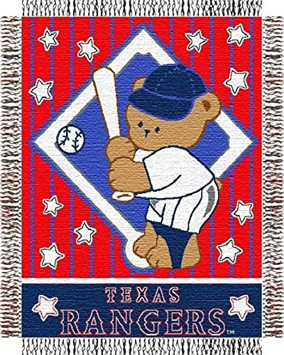Texas Rangers Woven MLB Throw - 36
