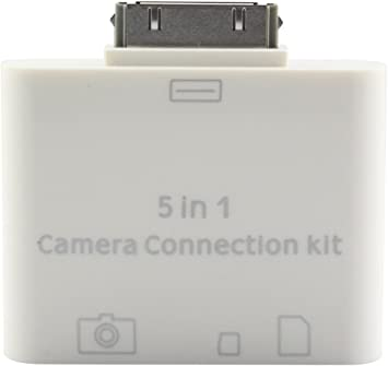 Amazon.com: FIDELITY® 30 PIN 5 in 1 SD card reader Camera Connection Kit,  Connects Camera, USB & Memory cards To iPad iPad2 iPad3 -UPDATED MODEL HAS  AUTOMATIC RECOGNITION (Does not work with