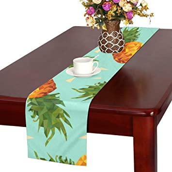 NQEONR Modern Summer Colorful Pineapple Table