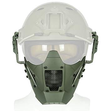Tactical Paintball media cara máscara de hierro Guerrero Casco de malla de acero Máscara – rápido