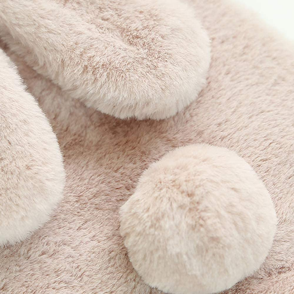Portable Rechargeable Electric Hot Water Bag Plush Bunny Hand Warmer Cozyhoma Hot Water Bottle Warm Water Bag Cute Hand Warmer with Rabbit Ear