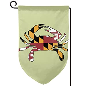 Maryland Full Flag Crab Welcome Farmhouse Flag Garden Flag 12.5×18 Inch Double Sided Vertical Yard Outdoor Decoration