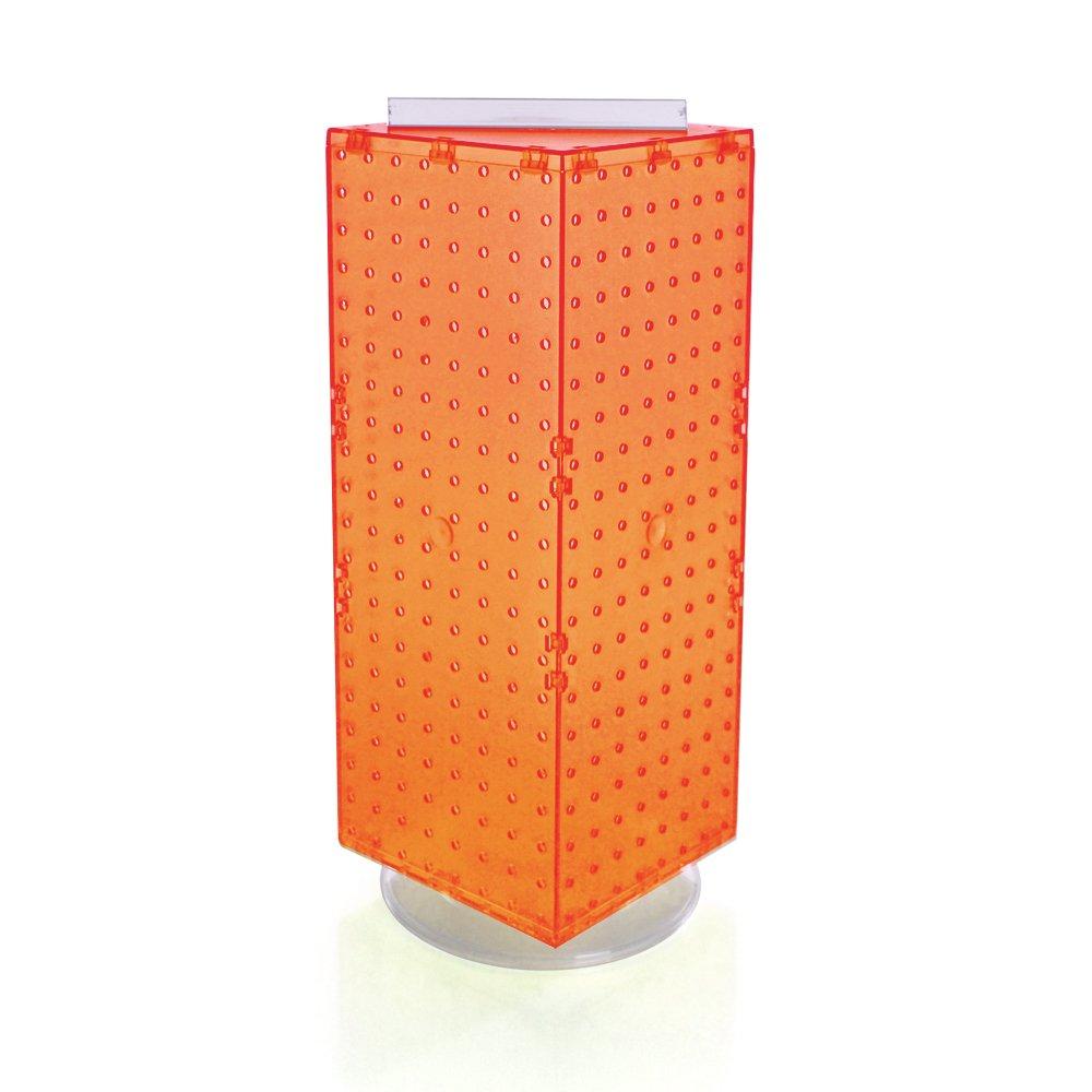 Azar 703385-ORG Interlocking Pegboard Display, 8-Inch by 8-Inch by 20-Inch, Orange