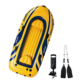 LXT PANDA Kayak inflable para 2 o 3 personas, incluye 2 ...
