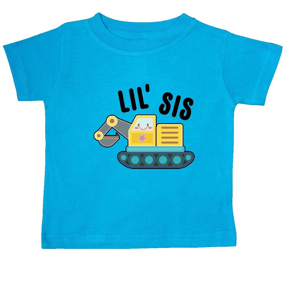 inktastic Lil Sis in with Bulldozer Baby T-Shirt