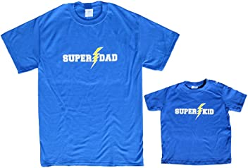 f58102fe21 Footsteps Clothing Super Dad or Kid Short Sleeve Cotton Shirt; Choose Adult  or Kid Size