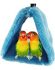 Keersi Hiver Chaud Bird Nest Maison Refuge pour Parrot Perruche Perruche calopsitte Amazones cacatoès canari inséparables Finch Cage Jouet (Couleur aléatoire)