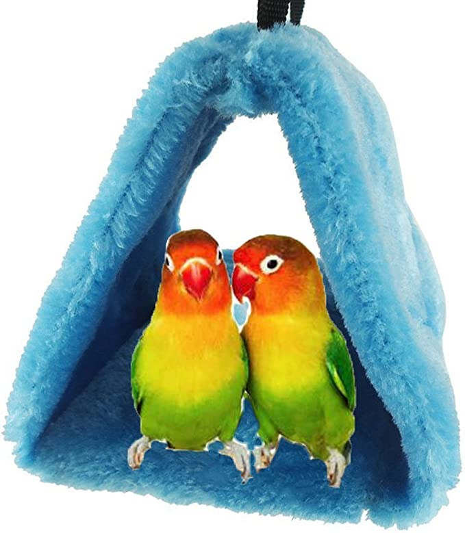 Petmolico Bird Nest Shed Hut House Warm Hanging Hammock Cage Accessories Snuggle Sleeping Bed Hideaway for Parrot Parakeet Cockatiels Cockatoo Lovebird Finch Medium Size