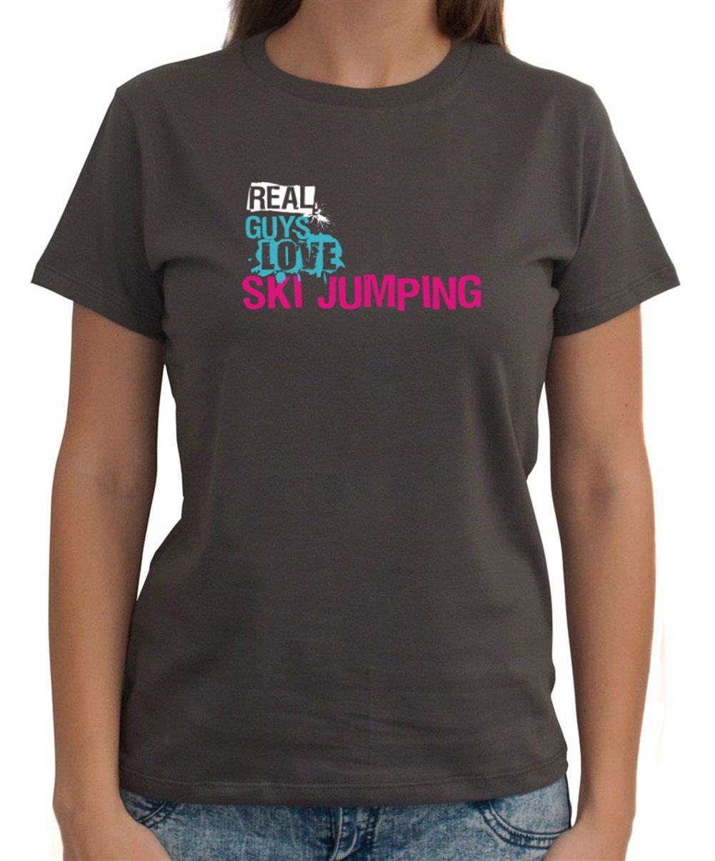 Real guys love Ski Jumping Dame T-Shirt