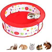 Hamster Playpen, Foldable Exercise Pen, Guinea-Pigs Portable Circular Wire Yard Fence, Pet Red Pot Cage House Pop Up Pen…