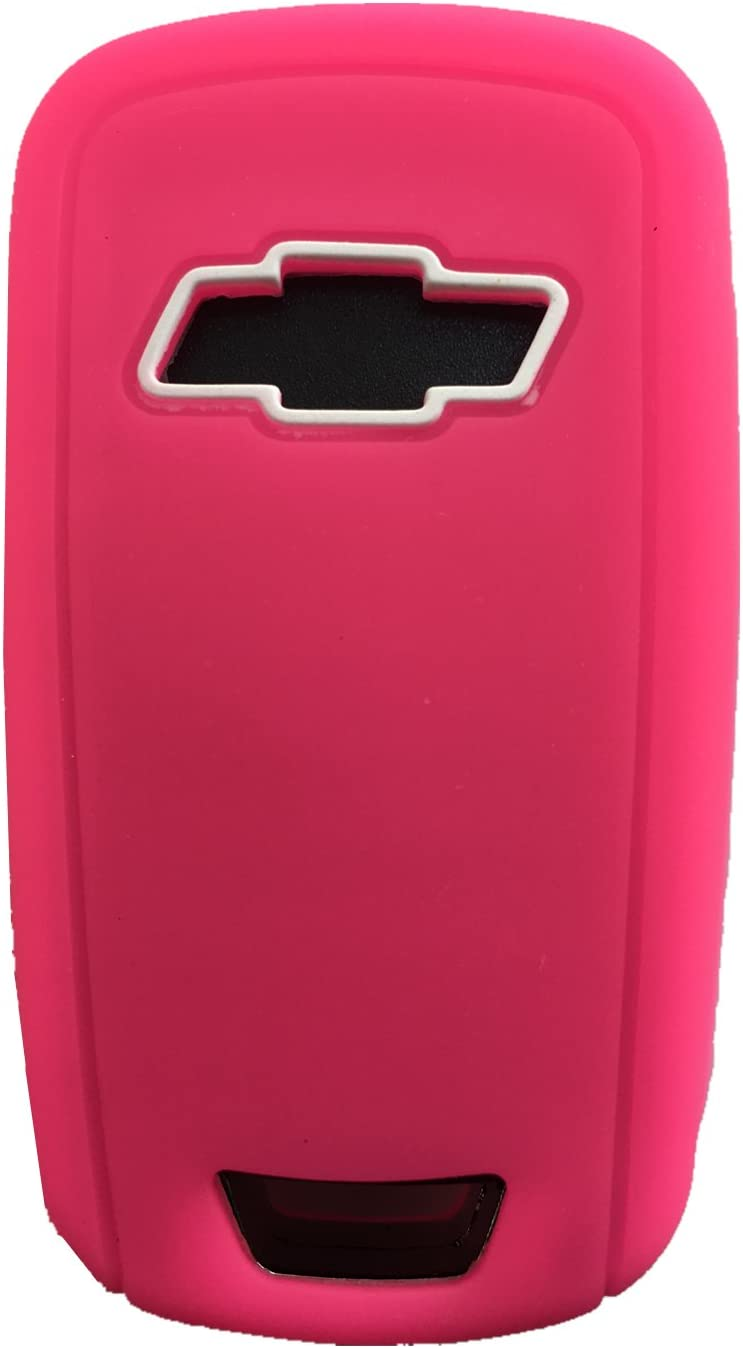 Rpkey Silicone Keyless Entry Remote Control Key Fob Cover Case protector For Chevrolet Camaro Cruze Limited Equinox Impala Limited Malibu Malibu Limited Sonic(Rose red)OHT01060512 13504199 13500221