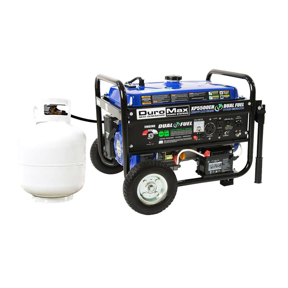 DuroMax XP5500EH Gas/Propane Powered Dual Fuel Portable Generator