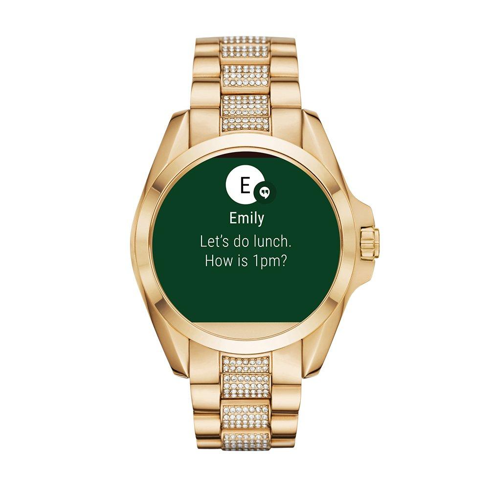 Amazon.com  Michael Kors Access, Women s Smartwatch, Bradshaw Gold-Tone  Stainless Steel, MKT5002  Watches e0ffa9b04f