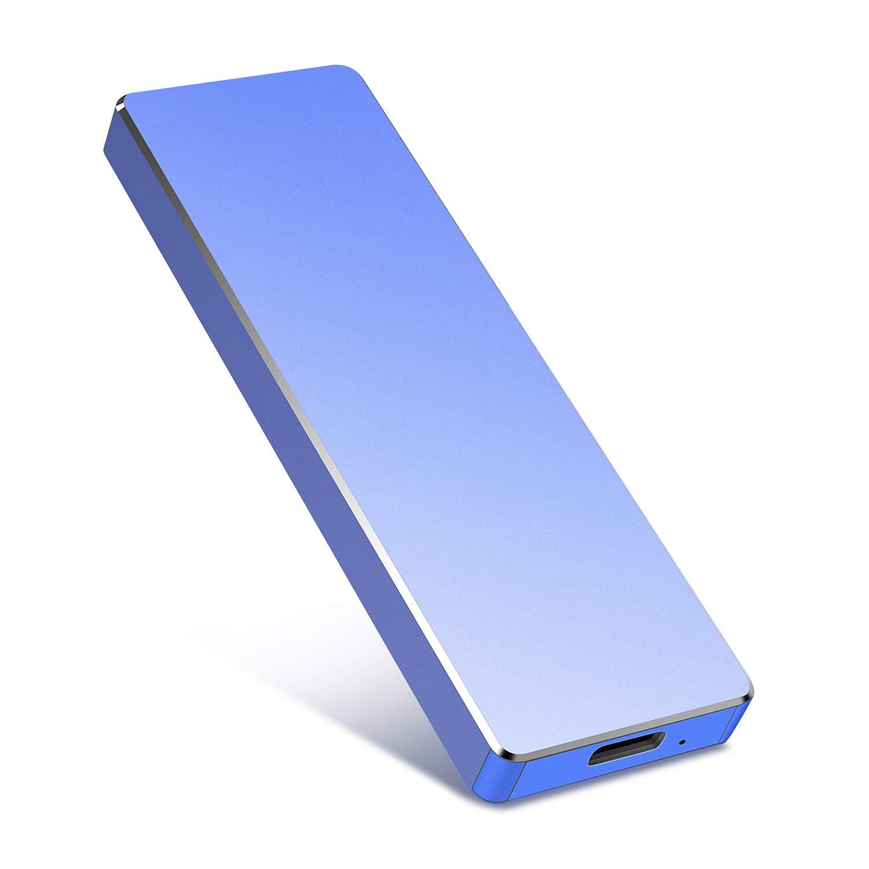 Ultra Thin External HDD Type C USB 3.1 for Mac PC and Laptop 1TB, F-Black Portable External Hard Drive 1TB,Uiita Hard Drive External