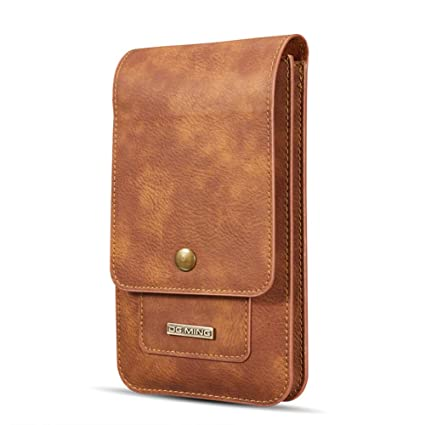 d0ef32e583b5 Men Carrying case Cellphone Holster Leather Belt Clip Pouch Vertical Waist  Wallet Purse for iPhone Xs MAX/XR/XS/X,Samsung Galaxy S10/S10 Plus/S10 ...