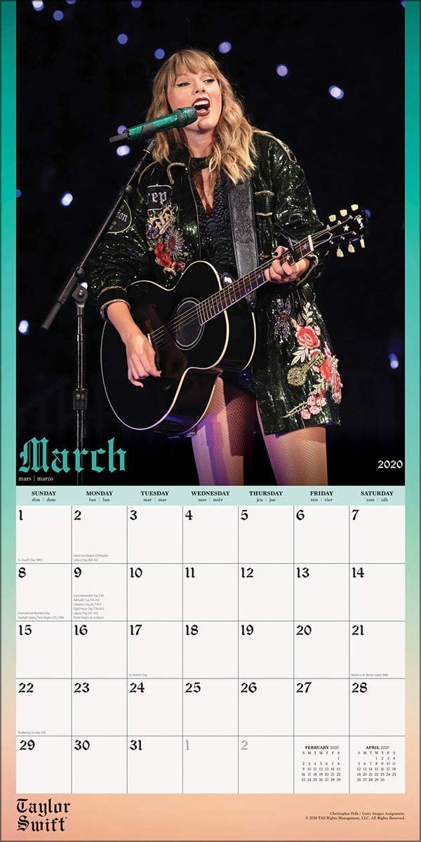 Metal Machine Fridge Magnet Taylor Swift 16 Month Calendar 2020