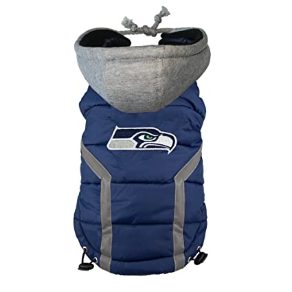 Amazon.com   NFL Seattle Seahawks Dog Puffer Vest   Sports   Outdoors 1ad42266e