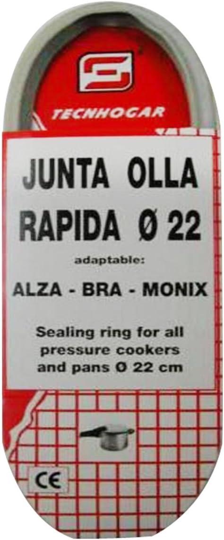 TECNHOGAR - Junta Olla Rapida Alza-Monix Tecnhogar 22 Cm: Amazon.es: Bricolaje y herramientas