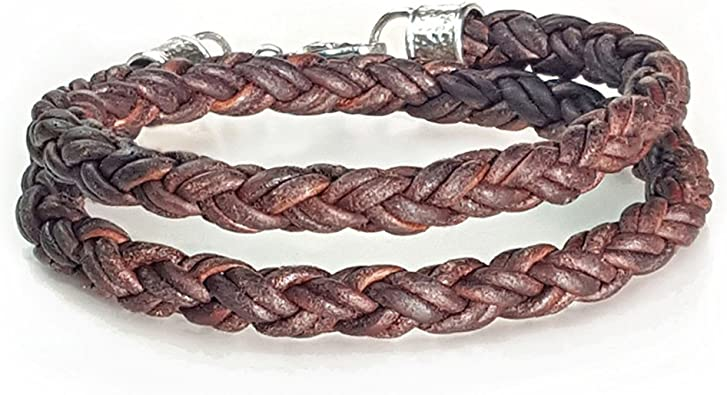 double wrap leather bracelet with triple leather cords many colors to choose