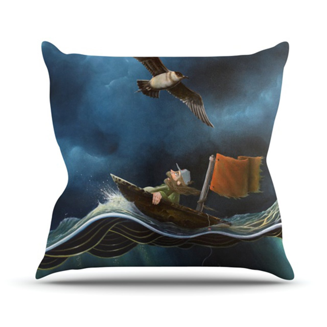 Kess InHouse Graham Curran Savages Throw Pillow 16 by 16-Inch