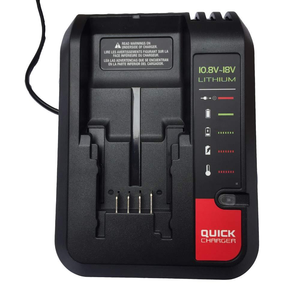 Cargador de bater/ía de repuesto para Black Decker para Stanley para Porter-cable bater/ía de iones de litio 10.8V-20V BDCAC202 PCC692L LB20 LBXR20