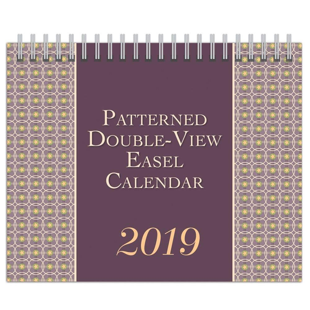 2019 Patterned Double View Desk Calendar, Office Organizer by Wyman Publishing