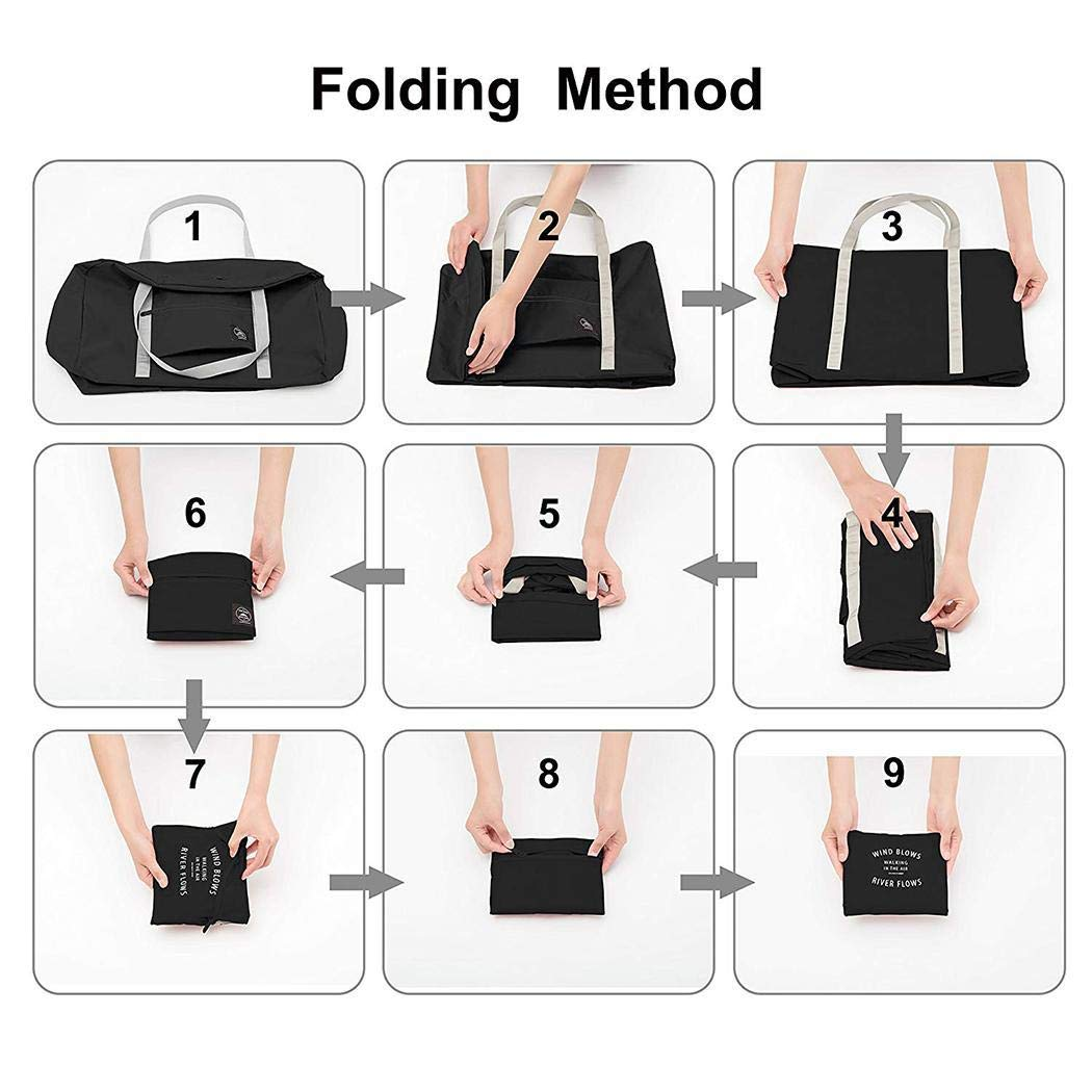 Foshin New Fashion Unisex Big Capacity Waterproof Travel Multi-function Bag Travel Totes