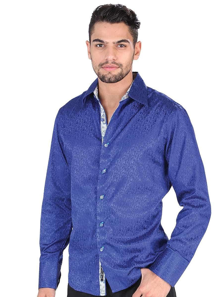 L//Sleeve ID 34808 El General Royal Blue Camisa Vaquera Western Shirt CW