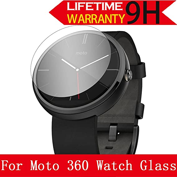 Moto 360 Watch Glass Screen Protector,[3 Pack] AnoKe(0.3mm 9H 2.5D) Best Tempered Glass Screen Protector Film Shield Guard For Motorola Moto 360 Watch ...