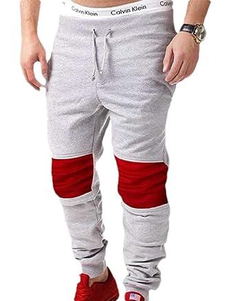 dahuo - Pantalones de chándal para Hombre, Largos, Casuales, con ...