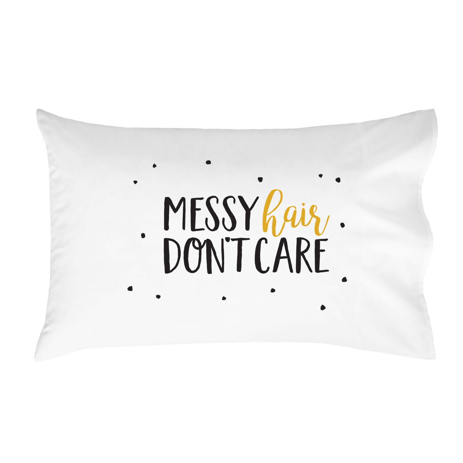Oh, Susannah Messy Hair Don't Care Pillowcase (One 20x30 Standard/Queen Size Pillow Case) Girls Bedroom Decor Girlfriend Gifts