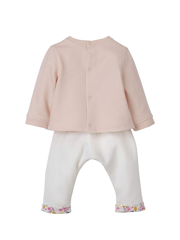 e9633b7001a03 VERTBAUDET Ensemble bébé sweat + sarouel en molleton à motif Rose  poudré/ivoire 1M - 54CM: Amazon.fr: Bébés & Puériculture