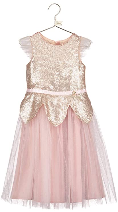 5bfcfa727f8bc Fancy Me Girls Luxury Official Disney Boutique Sequin Tinker Bell  Tinkerbell Rose Gold Wedding Flower Girl