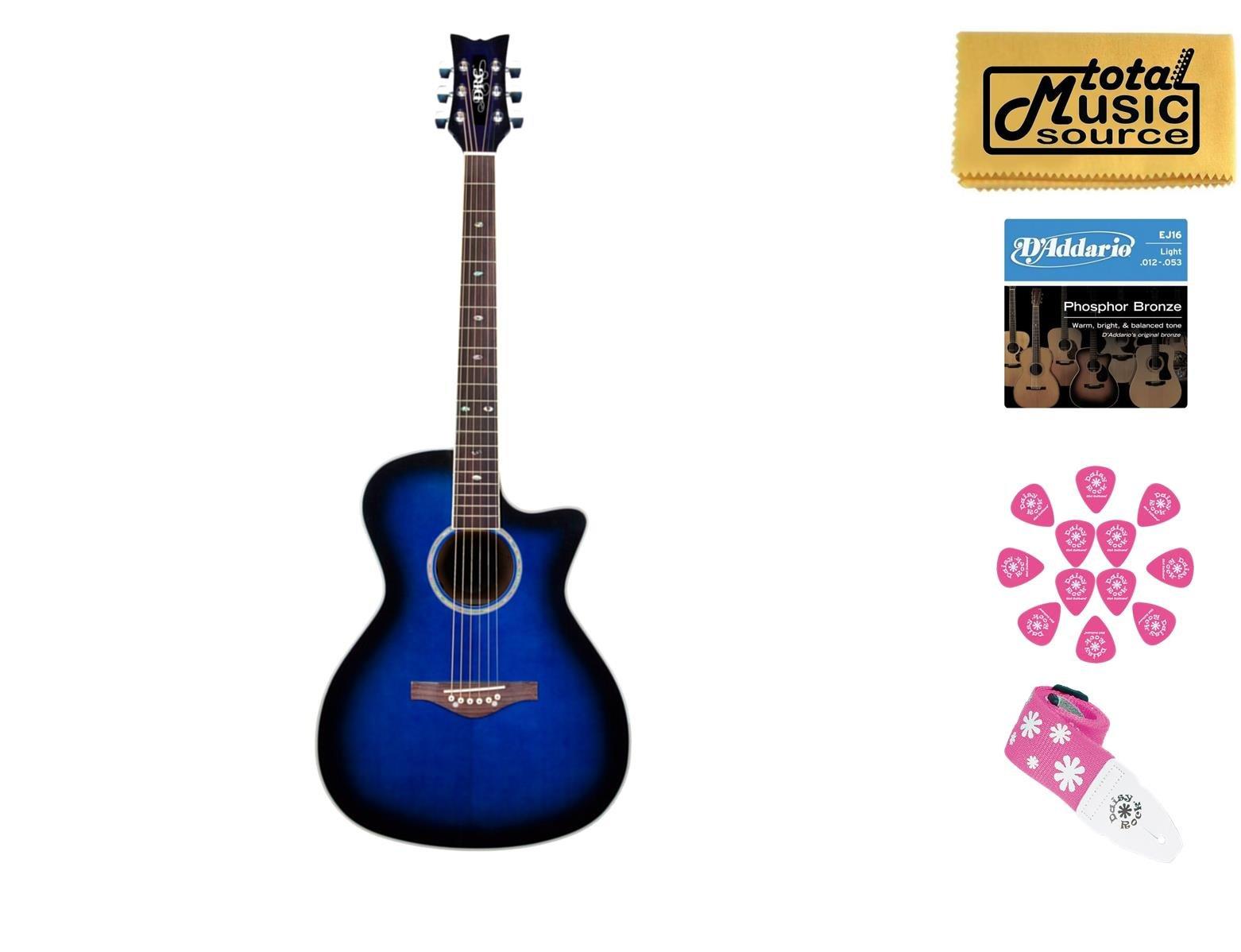Daisy Rock Wildwood Artist A/E Guitar, Active EQ, Royal Blue Burst, DR-6278 by Daisy Rock