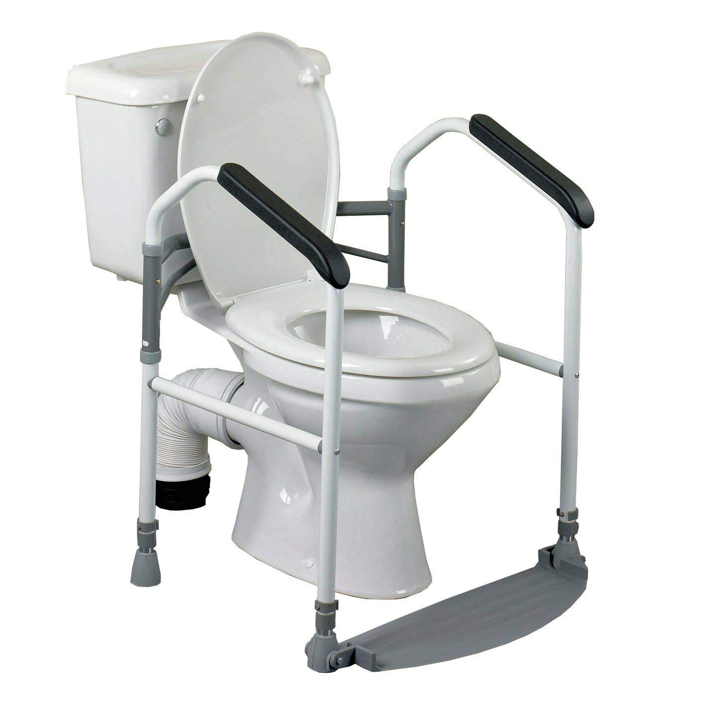 Homecraft Buckingham Foldaway Toilet Surround, Padded Toilet Grab Bars, Bathroom Handrail with Adjustable Height, standard Alone Device, Toilet Safety Frame for Eldery, Handicapped, and Disabled Aid: Industrial & Scientific