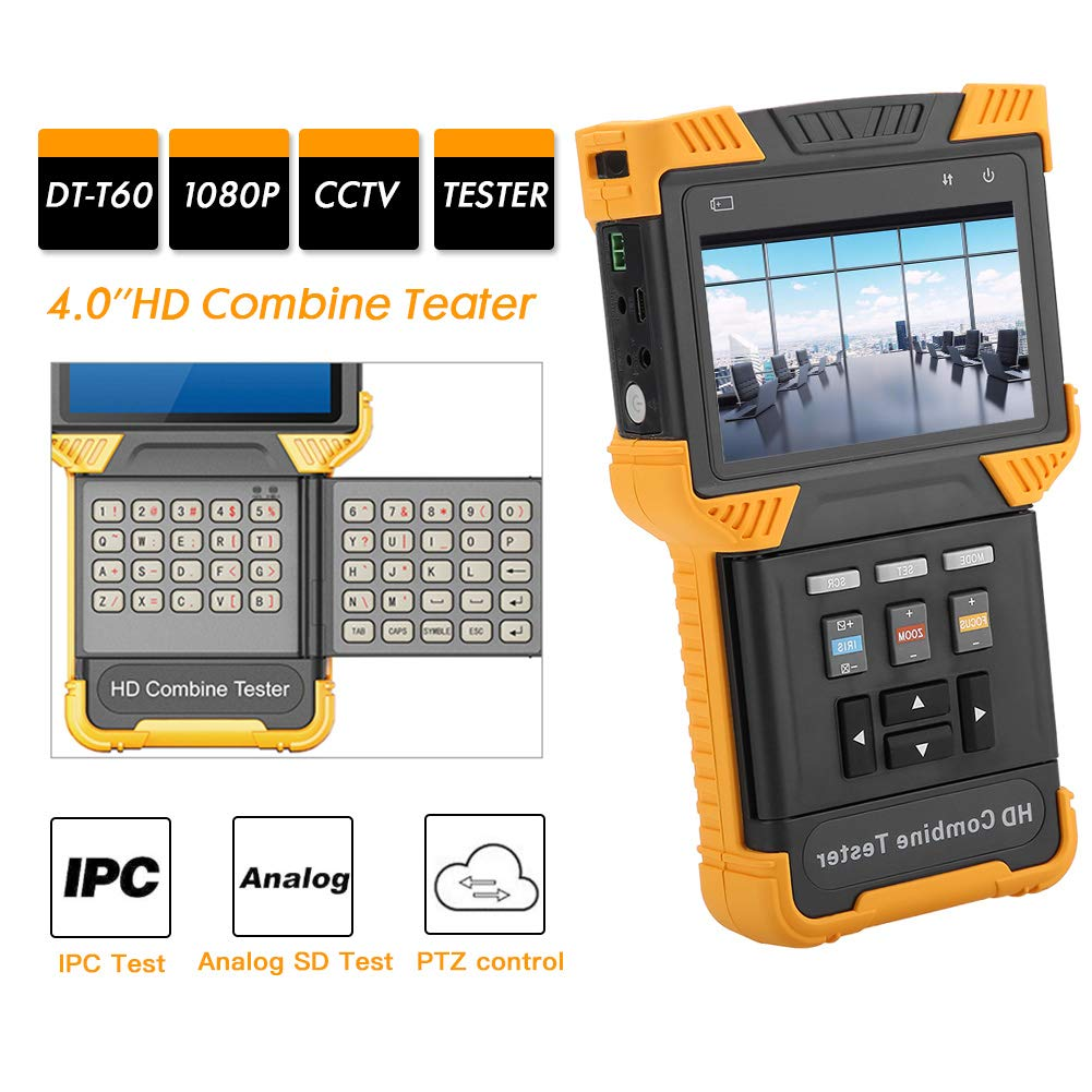CCTV Tester,IP Camera Tester Security CCTV Tester Monitor, 1080P IP Analog Camera Tester, HD Combine Tester with Battery, AC100-240V(US Plug) by Acogedor