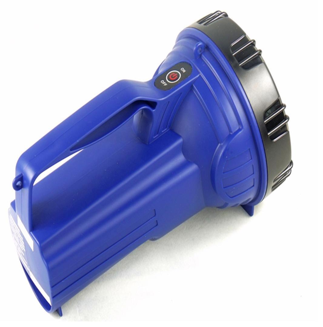 Jia & ER Fernbereich LED Bright Light Taschenlampe wiederaufladbar Searchlight Tragbare Lampe für Haushalt Outdoor Taschenlampe dunkelblau