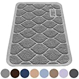 "MIGHTY MONKEY Premium Cat Litter Trapping Mats, Phthalate Free, Best Scatter Control, Jumbo XL Sizes (24"" x 17""), Mat Traps Litter, Easy to Clean, Soft on Kitty Paws (Gray)"