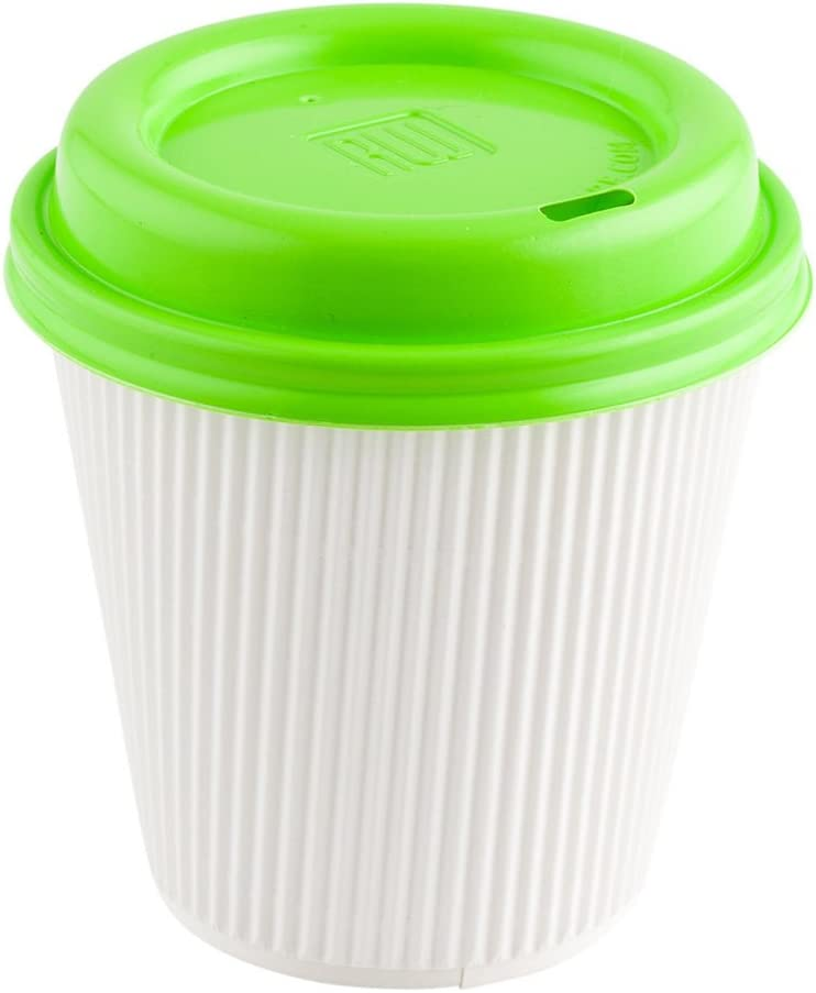 500 x 4oz White 118ml Single Wall Paper Coffee Cups Disposable Hot Cups Takeaway