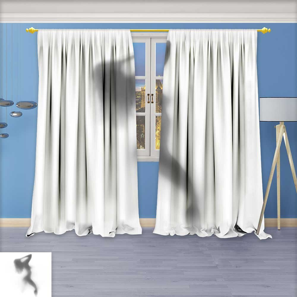 SeptSonne Design Print Thermal Insulated Blackout Curtain Mysterious woman dances behind the curtain for Living Room 96W x 96L Inch