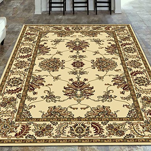 Radici 1330 NOBLE Rugs, 7-Feet 9 by 11-Feet 6-Feet, Ivory - Ivory Noble Traditional Rug