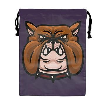 b85dd53cdff9 Amazon.com: Bulldog Pet Head Drawstring Backpack Polyester Folding ...