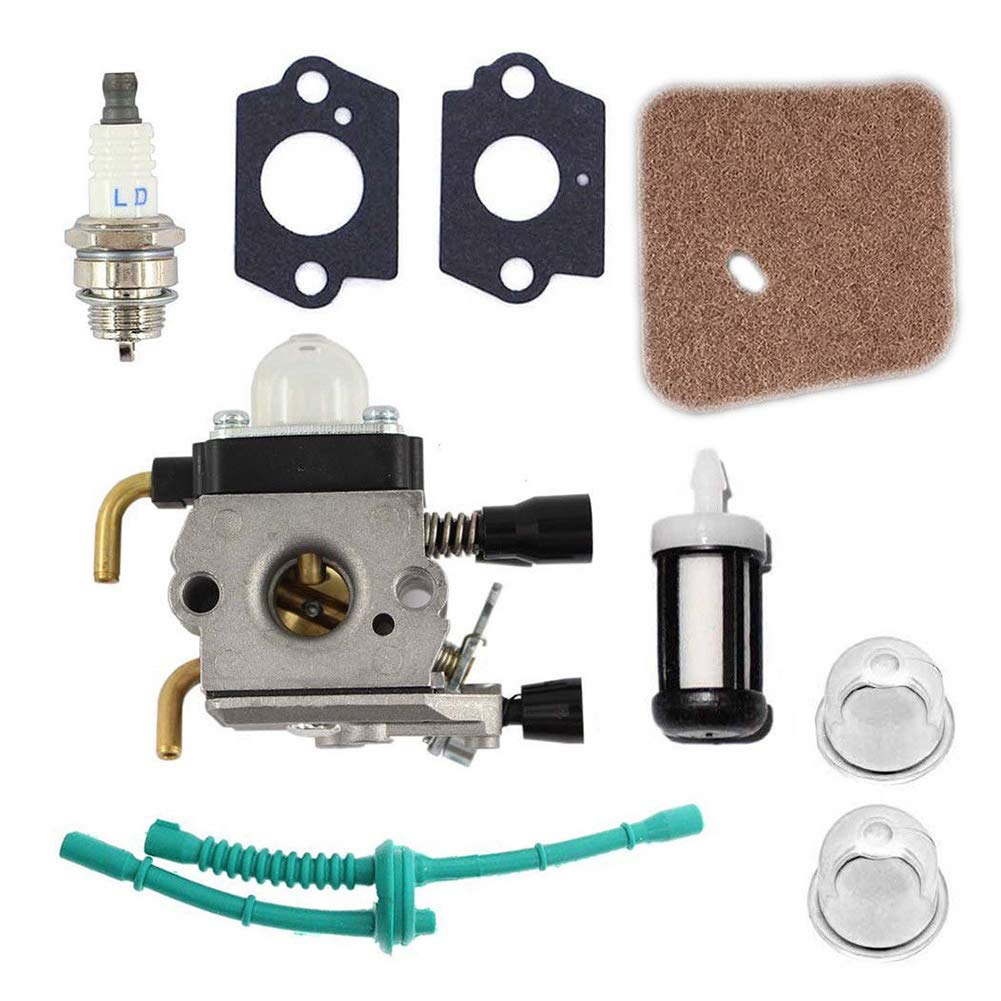 Wildlead Carburant Carburateur Carb kit pour Stihl FS38  FS45  Fs46  C Dé broussailleuse Weed Eater