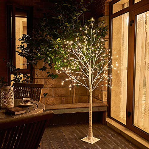 EAMBRITE 5FT 168LT LED Starlit Birch Tree with Fairy Light Decor Home Holiday Wedding Party (Fairy Lights Twigs And)