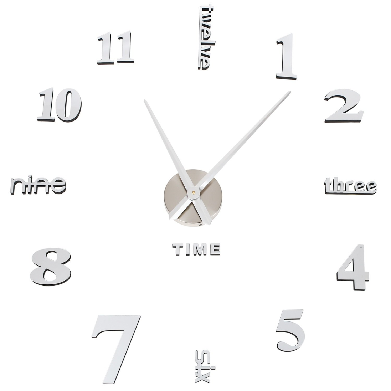 Details Sur Horloge Murale Soledi Horloge Colle Le Mur Decoration 3d Bureau Maison Hotel