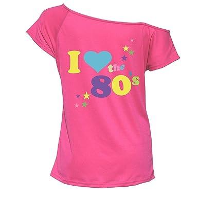 943833cc Womens I Love The 80s T Shirt Short Sleeves Ladies Retro Pop Star Tees Top  UK 8-26: Amazon.co.uk: Clothing