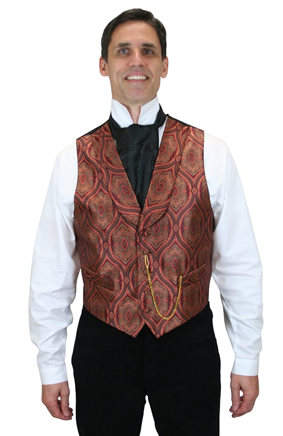 Victorian Men's Vests and Waistcoats Kingsley Dress Vest $64.95 AT vintagedancer.com