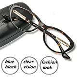 Computer Reading Glasses Blue Blocking Light Weight Gaming Screen Digital Reader Clear Lens Anti Eye Strain UV Comfortable Fit for Women Men Magnification